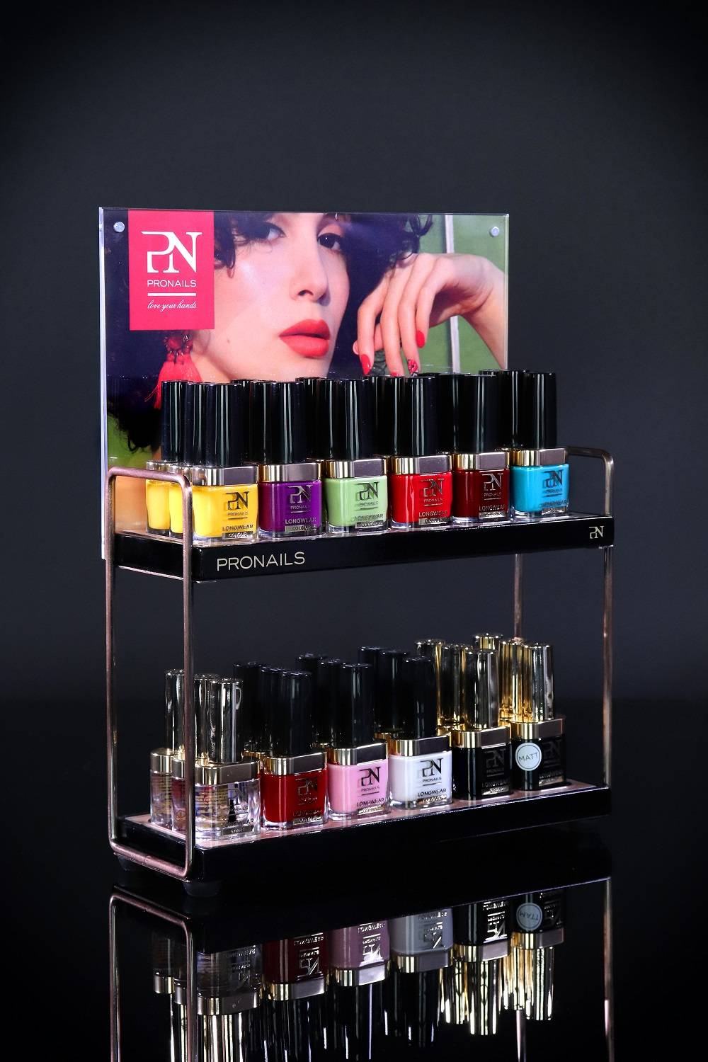 Pro Nails counter display